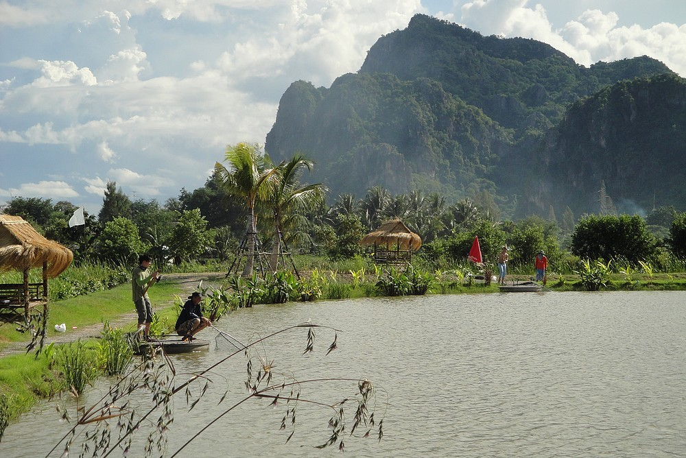 fishing lake in Hua Hin